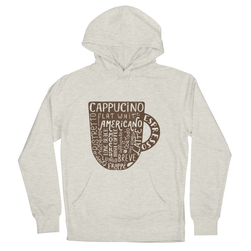 Coffee, please! Men's French Terry Pullover Hoody by Ira Shepel Artist Shop