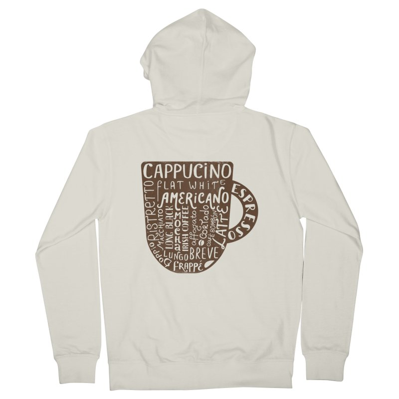 Coffee, please! Women's Zip-Up Hoody by Ira Shepel Artist Shop