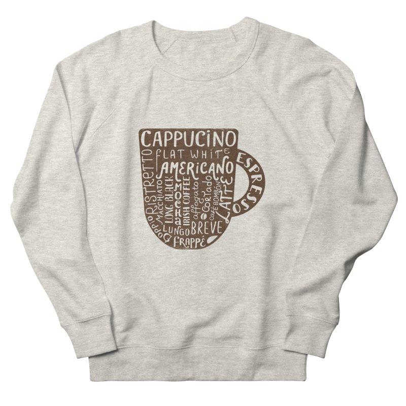 Coffee, please! Women's French Terry Sweatshirt by Ira Shepel Artist Shop
