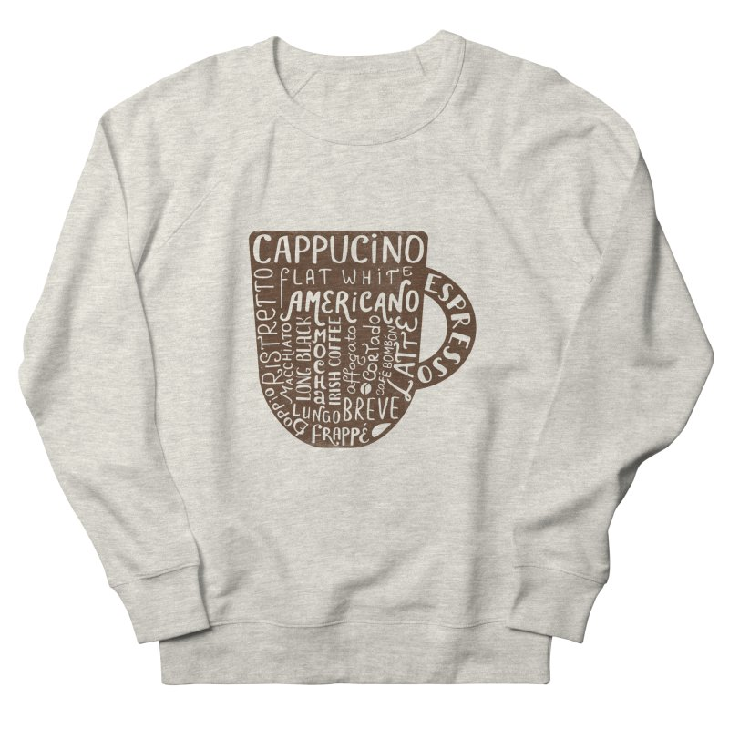 Coffee, please! Men's French Terry Sweatshirt by Ira Shepel Artist Shop