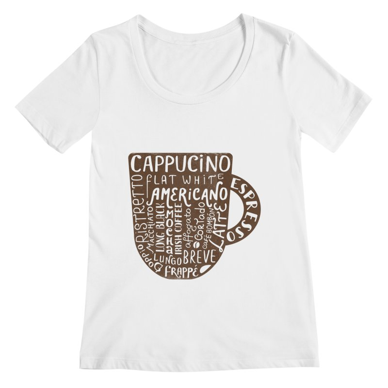 Coffee, please! Women's Regular Scoop Neck by Ira Shepel Artist Shop