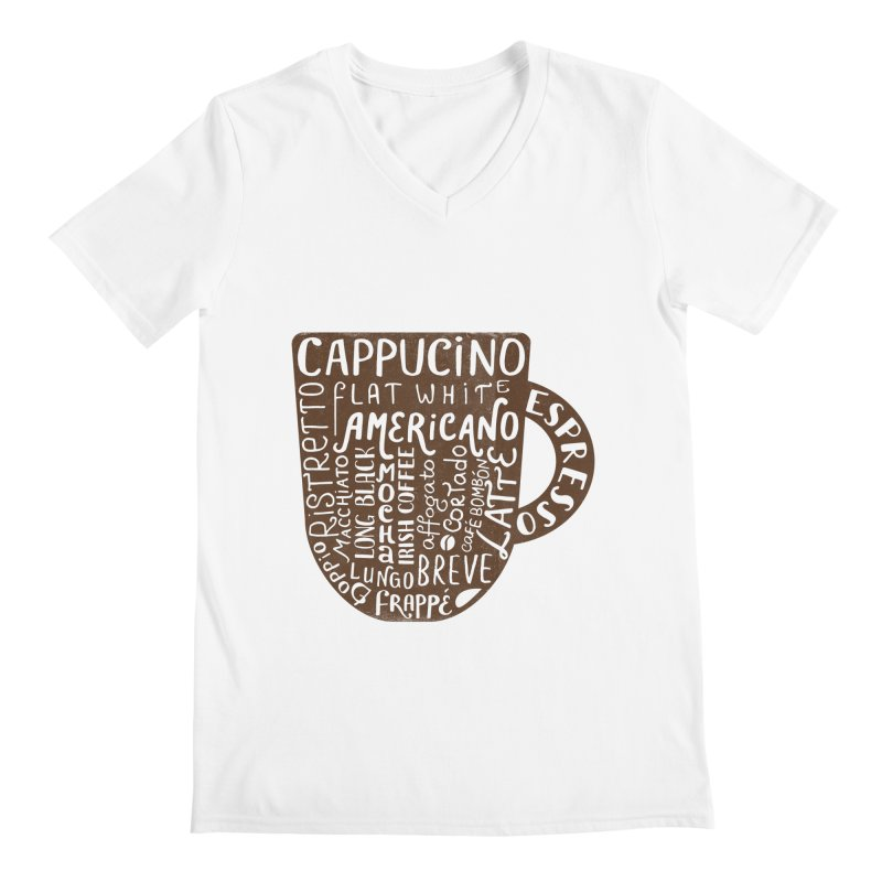 Coffee, please! Men's Regular V-Neck by Ira Shepel Artist Shop