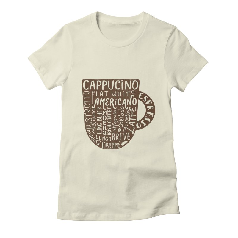 Coffee, please! Women's Fitted T-Shirt by Ira Shepel Artist Shop