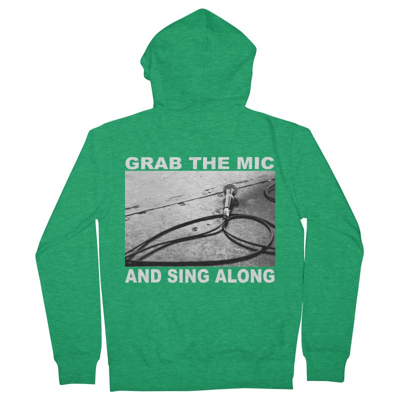 GRAB THE MIC Women's Zip-Up Hoody by I Shot Chad's Artist Shop