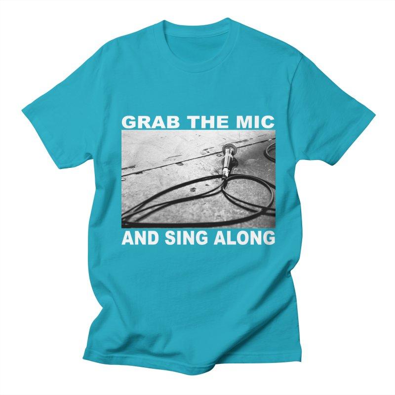 GRAB THE MIC Men's Regular T-Shirt by I Shot Chad's Artist Shop