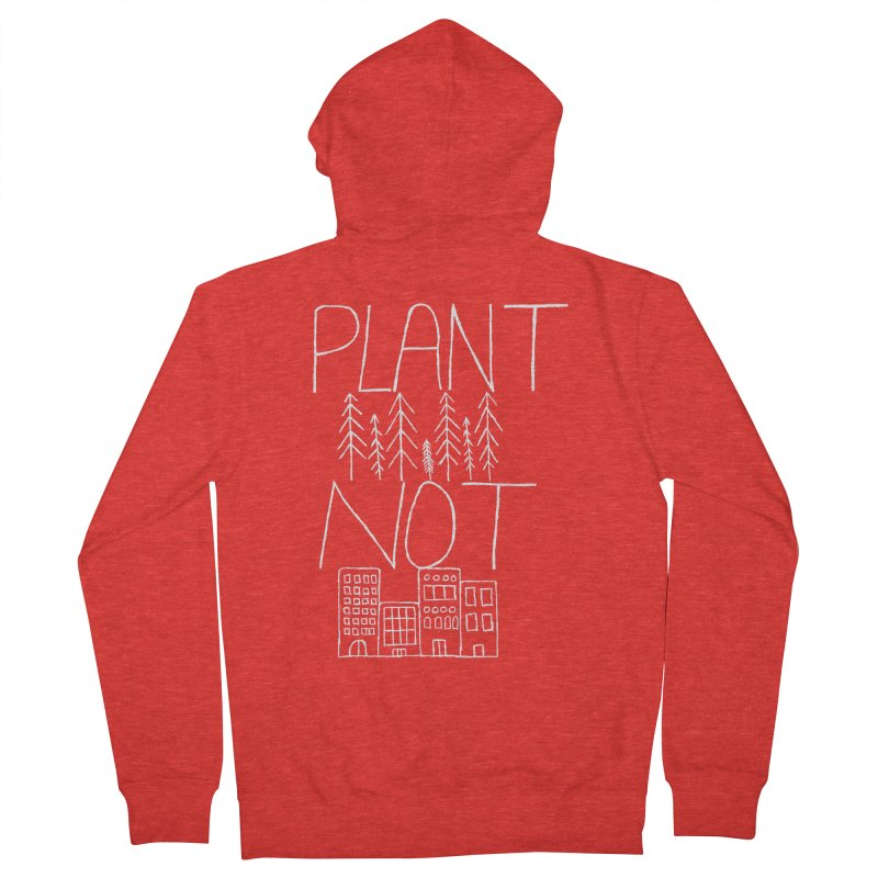 Plant Trees Not Cities Women's Zip-Up Hoody by A Life of Creation
