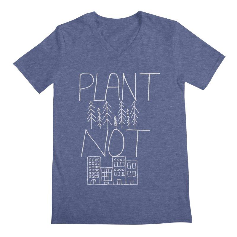 Plant Trees Not Cities Men's Regular V-Neck by I Shot Chad's Artist Shop