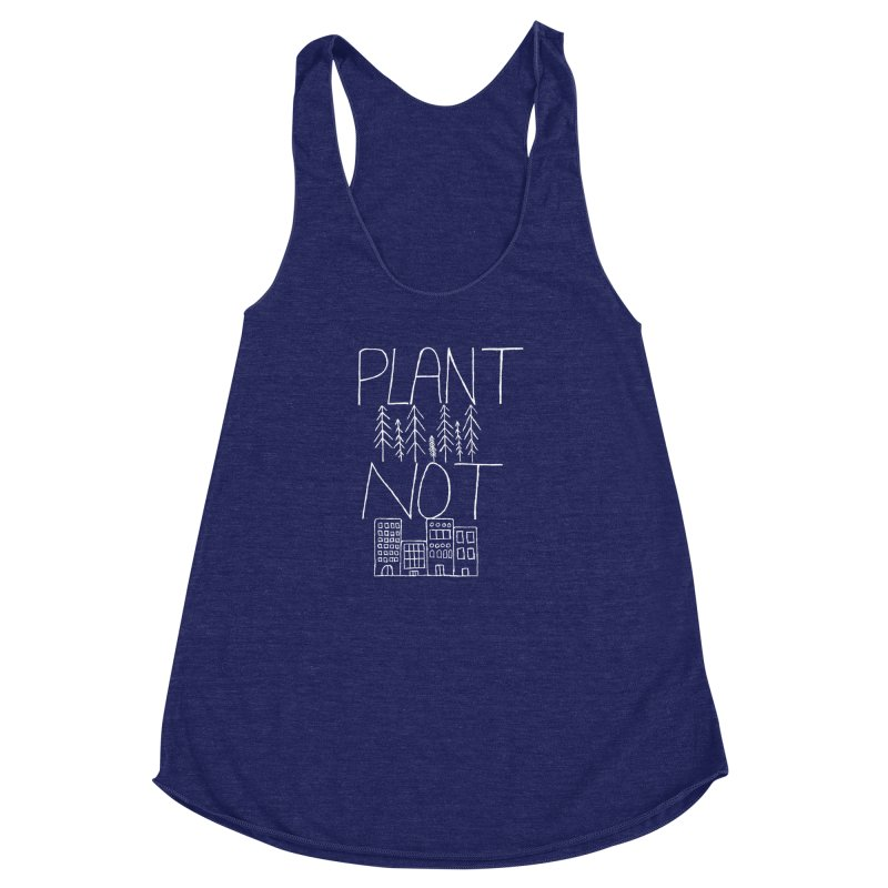 Plant Trees Not Cities Women's Racerback Triblend Tank by I Shot Chad's Artist Shop