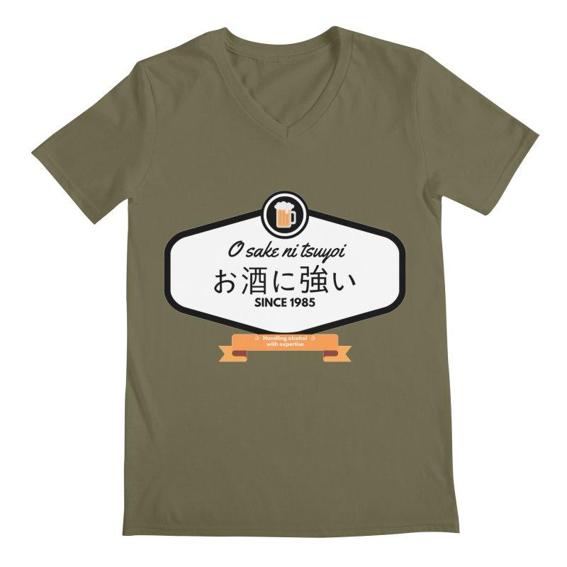 O sake ni tsuyoi Men's V-Neck by itelchan's Artist Shop