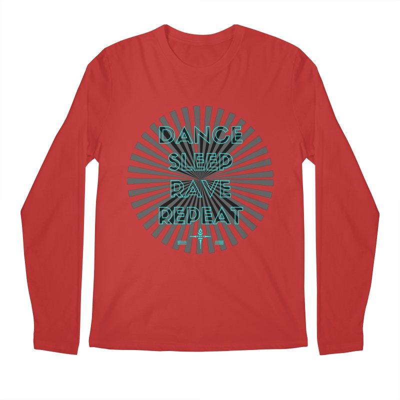 Dance Sleep Rave Repeat Men's Longsleeve T-Shirt by itelchan's Artist Shop