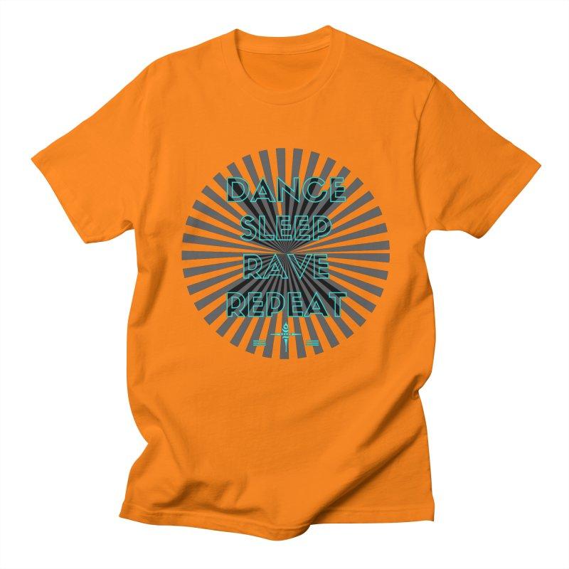 Dance Sleep Rave Repeat Men's T-shirt by itelchan's Artist Shop