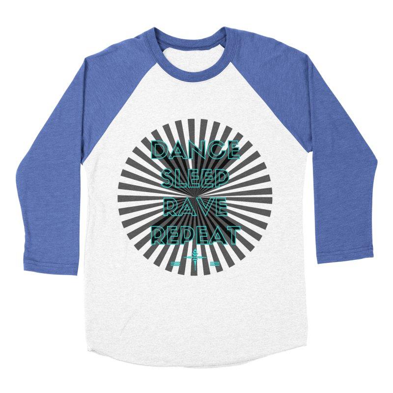 Dance Sleep Rave Repeat Women's Baseball Triblend T-Shirt by itelchan's Artist Shop