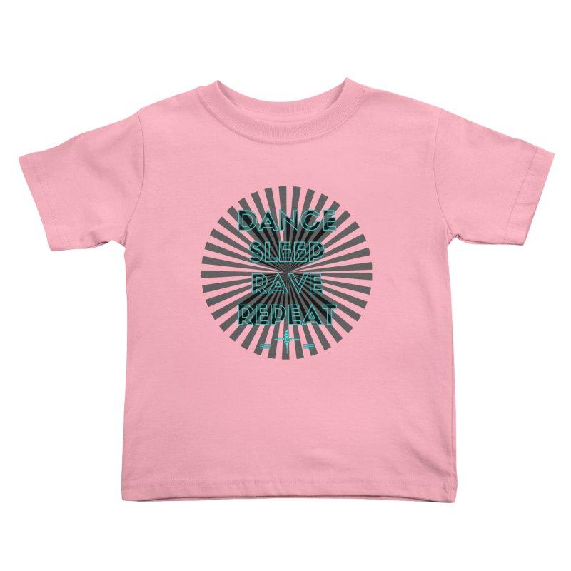 Dance Sleep Rave Repeat Kids Toddler T-Shirt by itelchan's Artist Shop