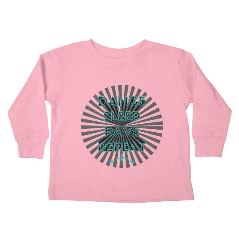 Dance Sleep Rave Repeat Kids Toddler Longsleeve T-Shirt by itelchan's Artist Shop