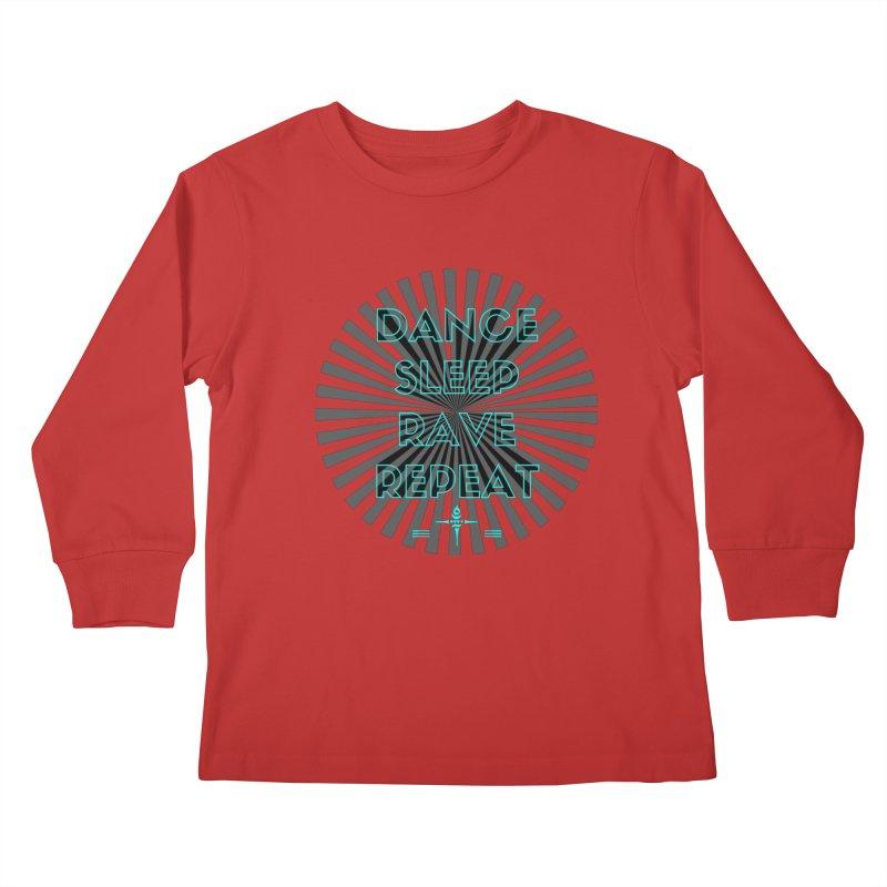 Dance Sleep Rave Repeat Kids Longsleeve T-Shirt by itelchan's Artist Shop