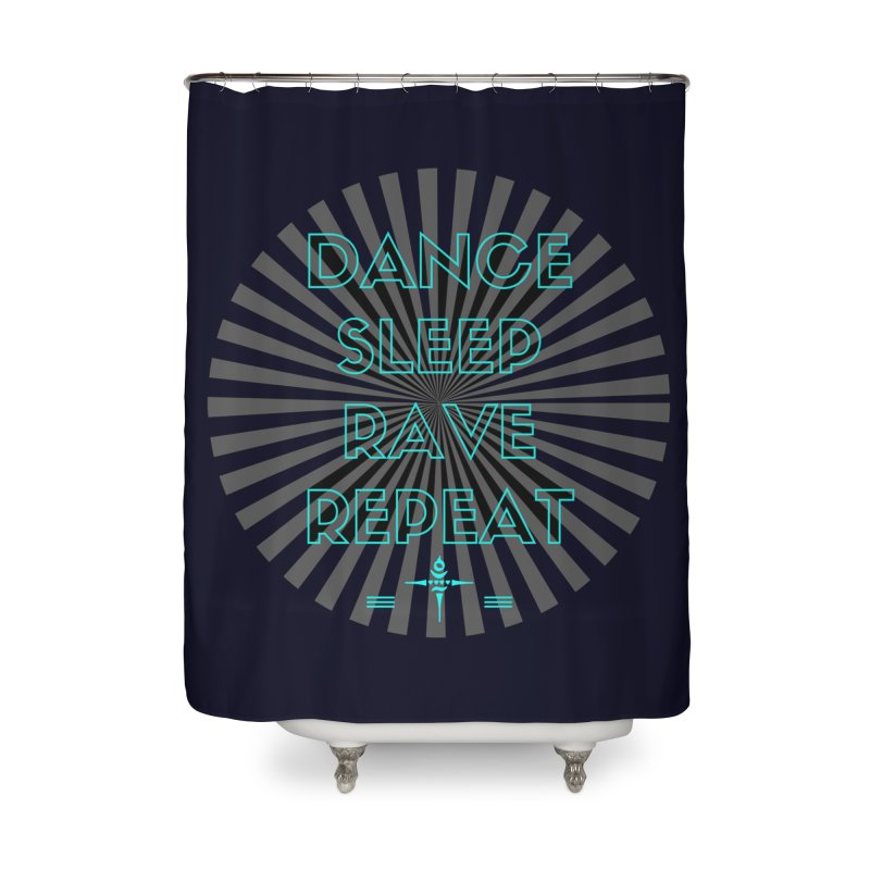 Dance Sleep Rave Repeat Home Shower Curtain by itelchan's Artist Shop