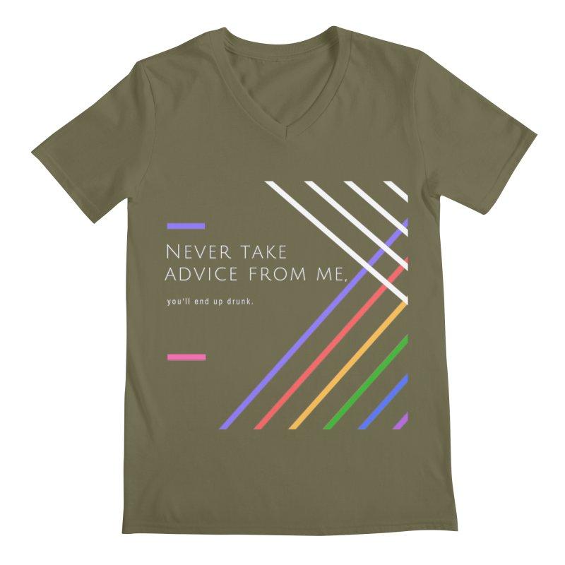 My Advice Men's V-Neck by itelchan's Artist Shop