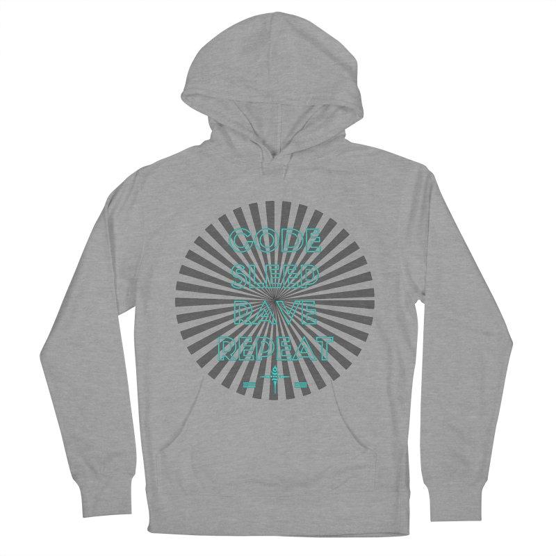 Code Sleep Rave Repeat Men's Pullover Hoody by itelchan's Artist Shop