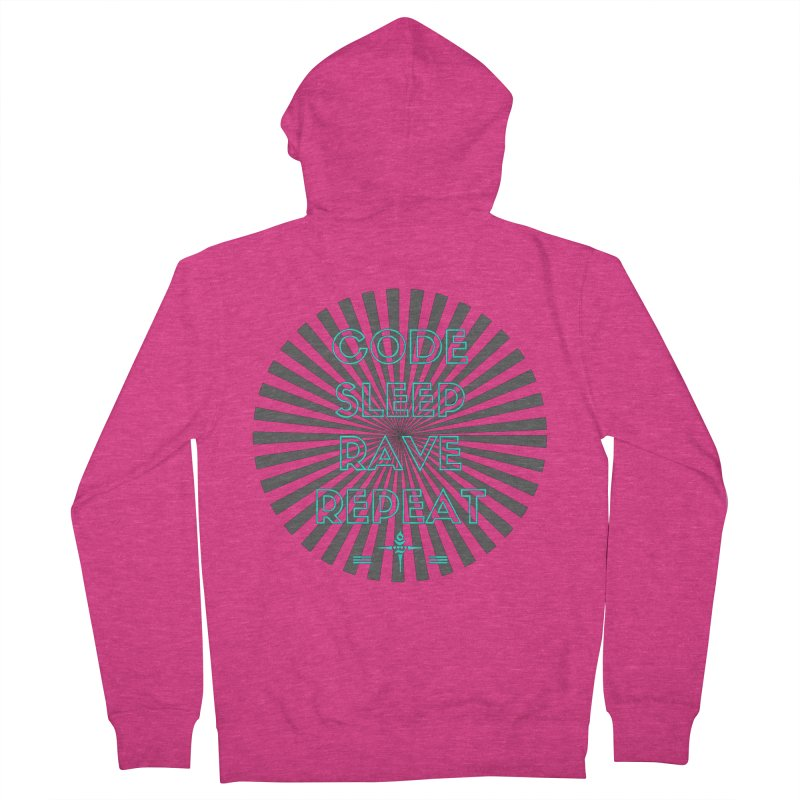 Code Sleep Rave Repeat Women's Zip-Up Hoody by itelchan's Artist Shop