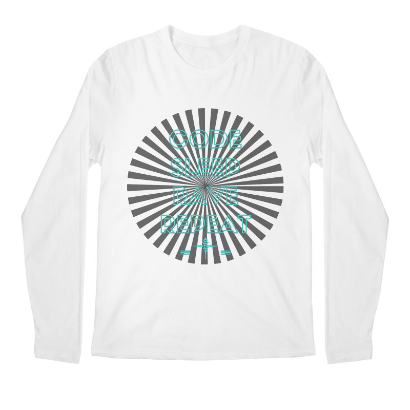 Code Sleep Rave Repeat Men's Longsleeve T-Shirt by itelchan's Artist Shop