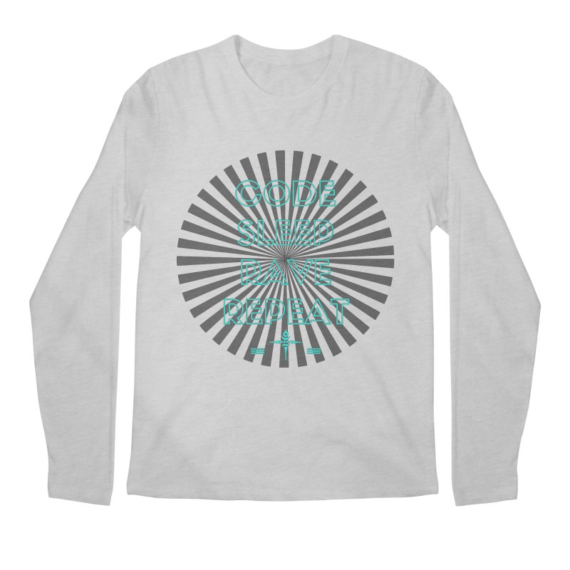 Code Sleep Rave Repeat Men's Longsleeve T-Shirt by itelchan's Artist Shop