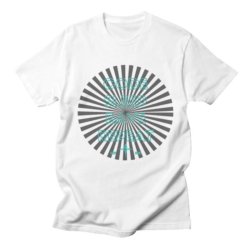 Code Sleep Rave Repeat Men's T-Shirt by itelchan's Artist Shop