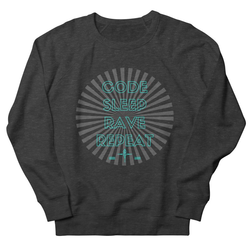 Code Sleep Rave Repeat Men's Sweatshirt by itelchan's Artist Shop