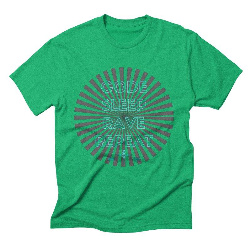 Code Sleep Rave Repeat Men's Triblend T-shirt by itelchan's Artist Shop
