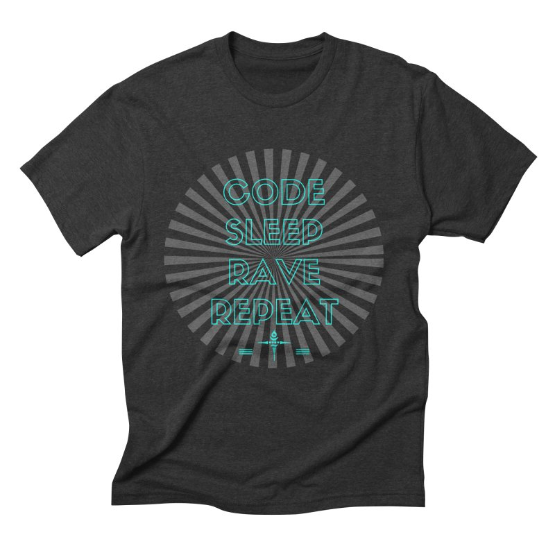 Code Sleep Rave Repeat Men's Triblend T-Shirt by itelchan's Artist Shop