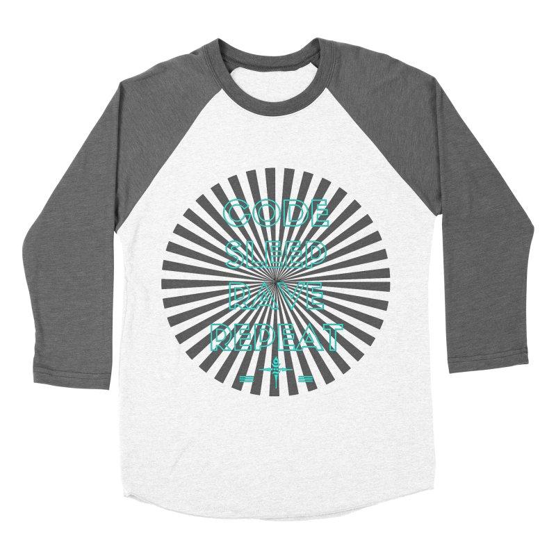 Code Sleep Rave Repeat Women's Baseball Triblend T-Shirt by itelchan's Artist Shop