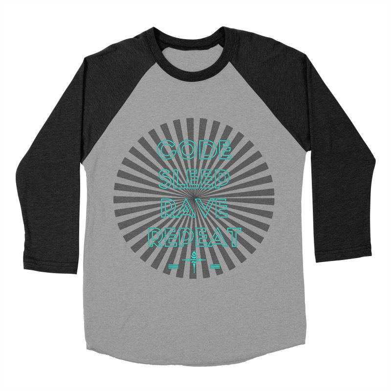 Code Sleep Rave Repeat Men's Baseball Triblend T-Shirt by itelchan's Artist Shop