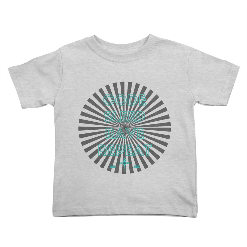 Code Sleep Rave Repeat Kids Toddler T-Shirt by itelchan's Artist Shop