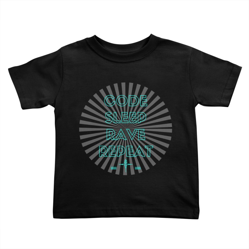 Code Sleep Rave Repeat Kids Toddler T-Shirt by itelchan's Artist Shop