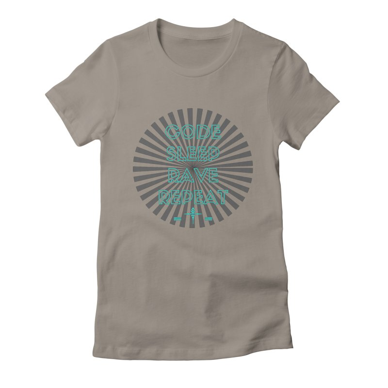 Code Sleep Rave Repeat Women's Fitted T-Shirt by itelchan's Artist Shop