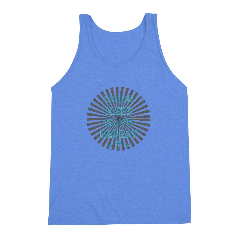Code Sleep Rave Repeat Men's Triblend Tank by itelchan's Artist Shop