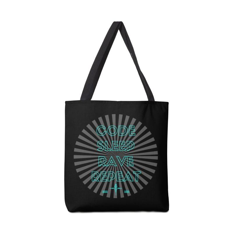 Code Sleep Rave Repeat Accessories Bag by itelchan's Artist Shop