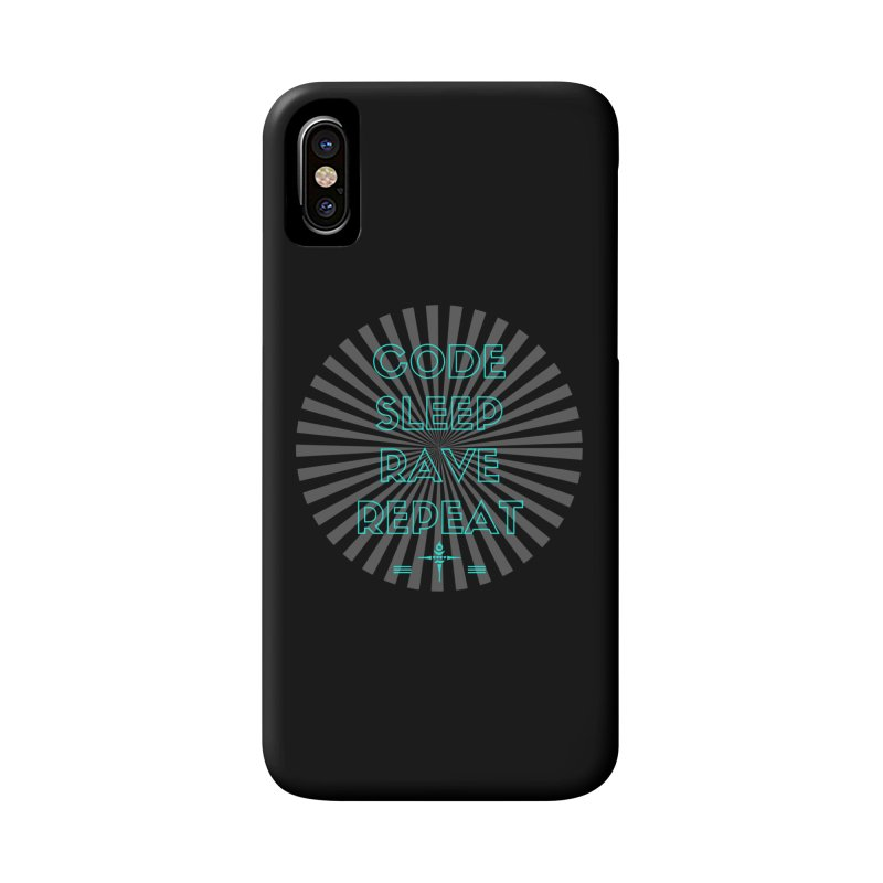 Code Sleep Rave Repeat Accessories Phone Case by itelchan's Artist Shop