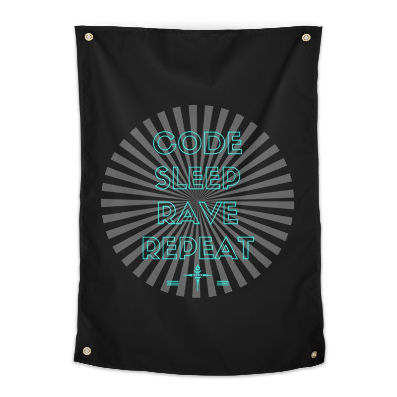 Code Sleep Rave Repeat Home Tapestry by itelchan's Artist Shop