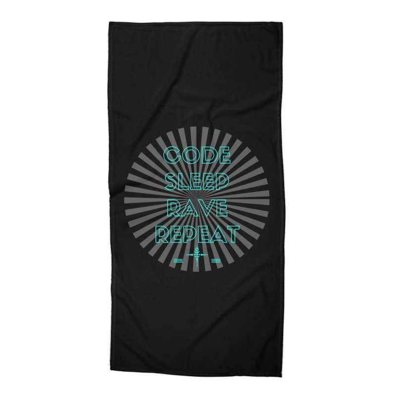Code Sleep Rave Repeat Accessories Beach Towel by itelchan's Artist Shop