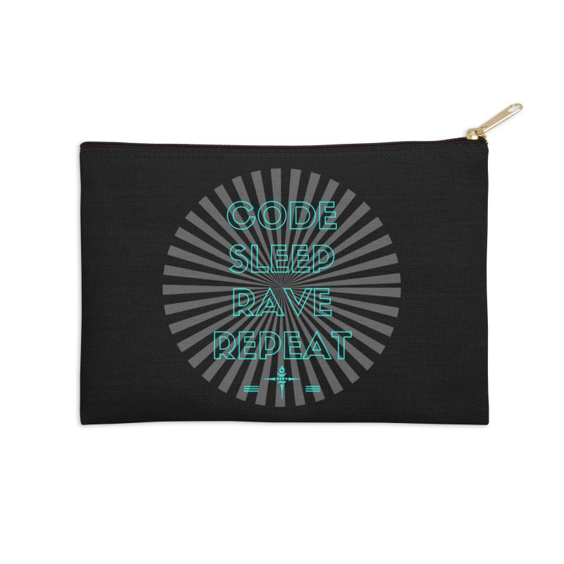 Code Sleep Rave Repeat Accessories Zip Pouch by itelchan's Artist Shop