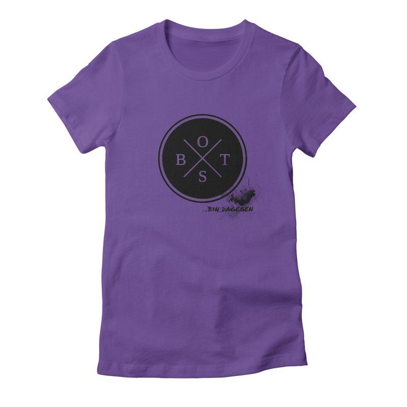 Gegen Obst - Against Fruits Women's Fitted T-Shirt by itelchan's Artist Shop