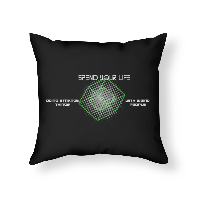 Strange Things - Weird People Home Throw Pillow by itelchan's Artist Shop