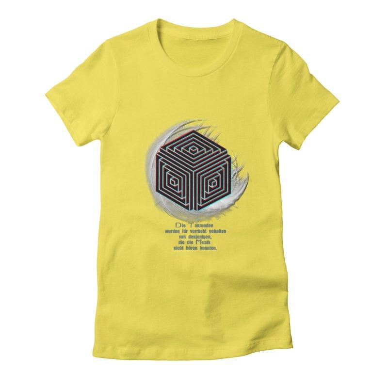 Für Verrückt Gehalten Women's Fitted T-Shirt by itelchan's Artist Shop