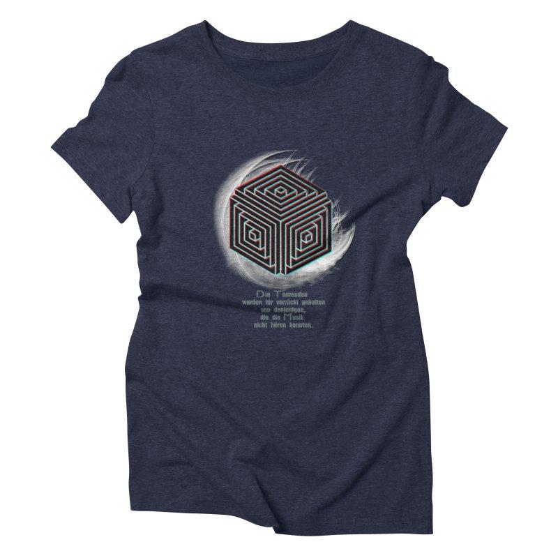 Für Verrückt Gehalten Women's Triblend T-shirt by itelchan's Artist Shop