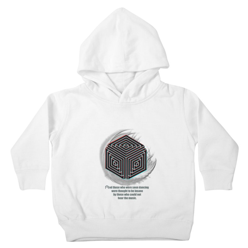 Considered Crazy Kids Toddler Pullover Hoody by itelchan's Artist Shop
