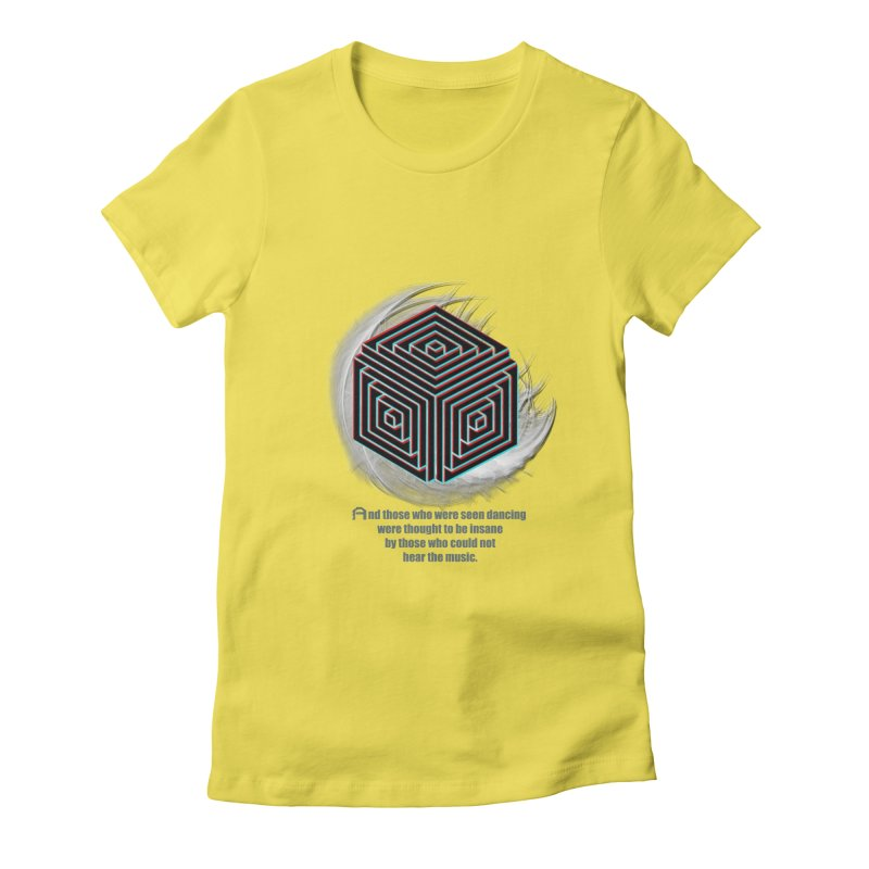 Considered Crazy Women's Fitted T-Shirt by itelchan's Artist Shop