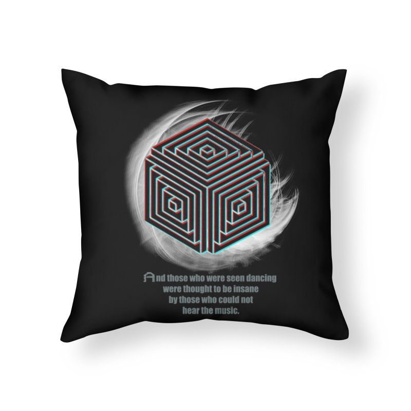 Considered Crazy Home Throw Pillow by itelchan's Artist Shop