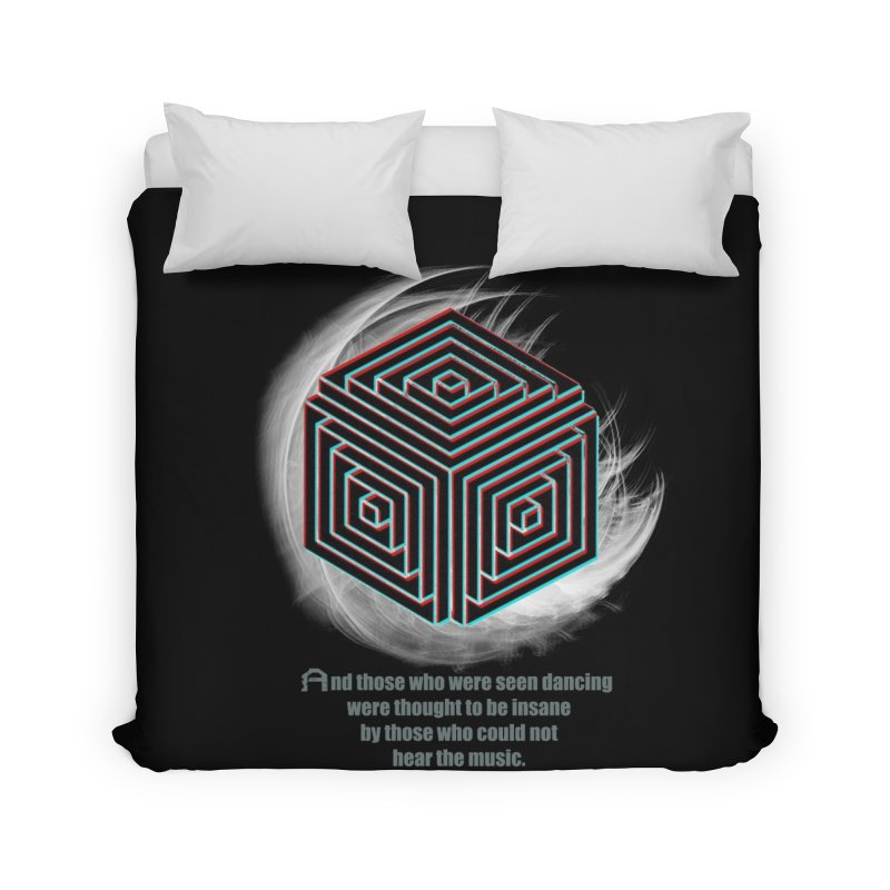 Considered Crazy Home Duvet by itelchan's Artist Shop