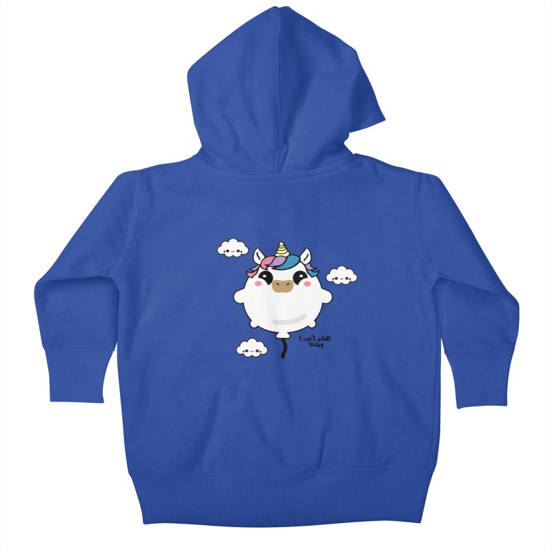 I can't adult today Kids Baby Zip-Up Hoody by itelchan's Artist Shop