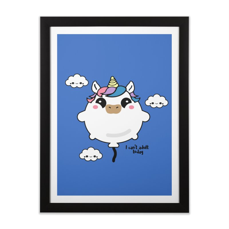 I can't adult today Home Framed Fine Art Print by itelchan's Artist Shop